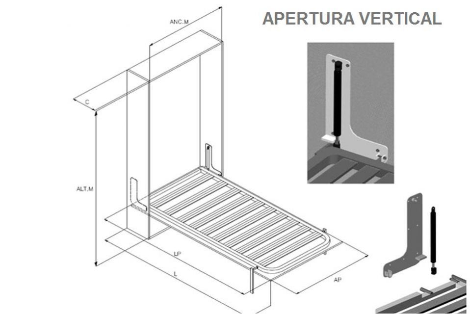 Como hacer cama abatible vertical good camas abatibles - Construir cama abatible ...