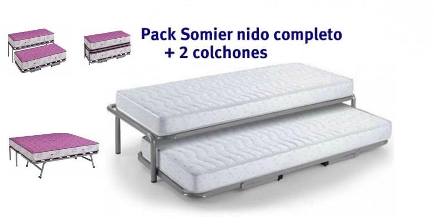 Somier nido colch n viscoel stico canapi - Somier con cama nido ...