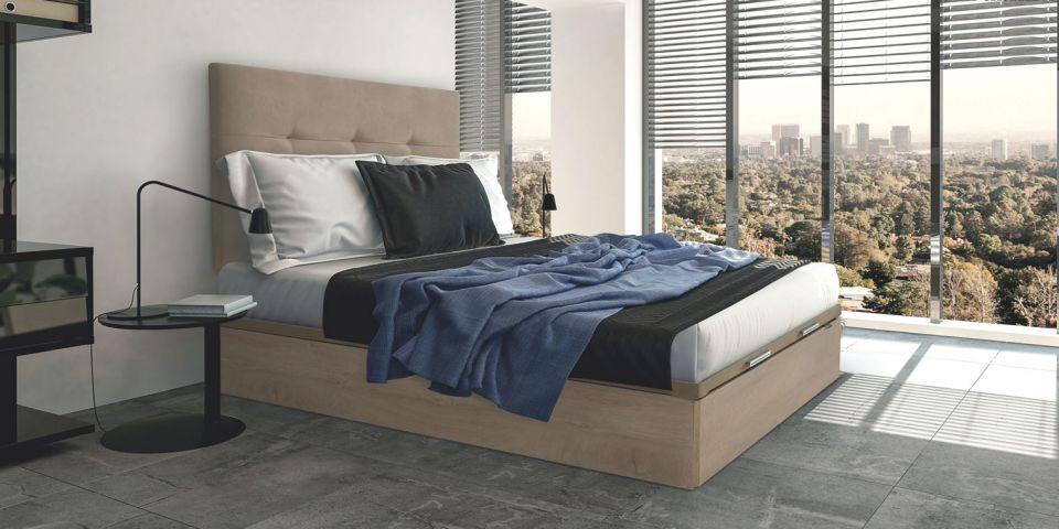 Descanso y salud por qu elegir un canape abatible para tu cama - Somier con cajones ...