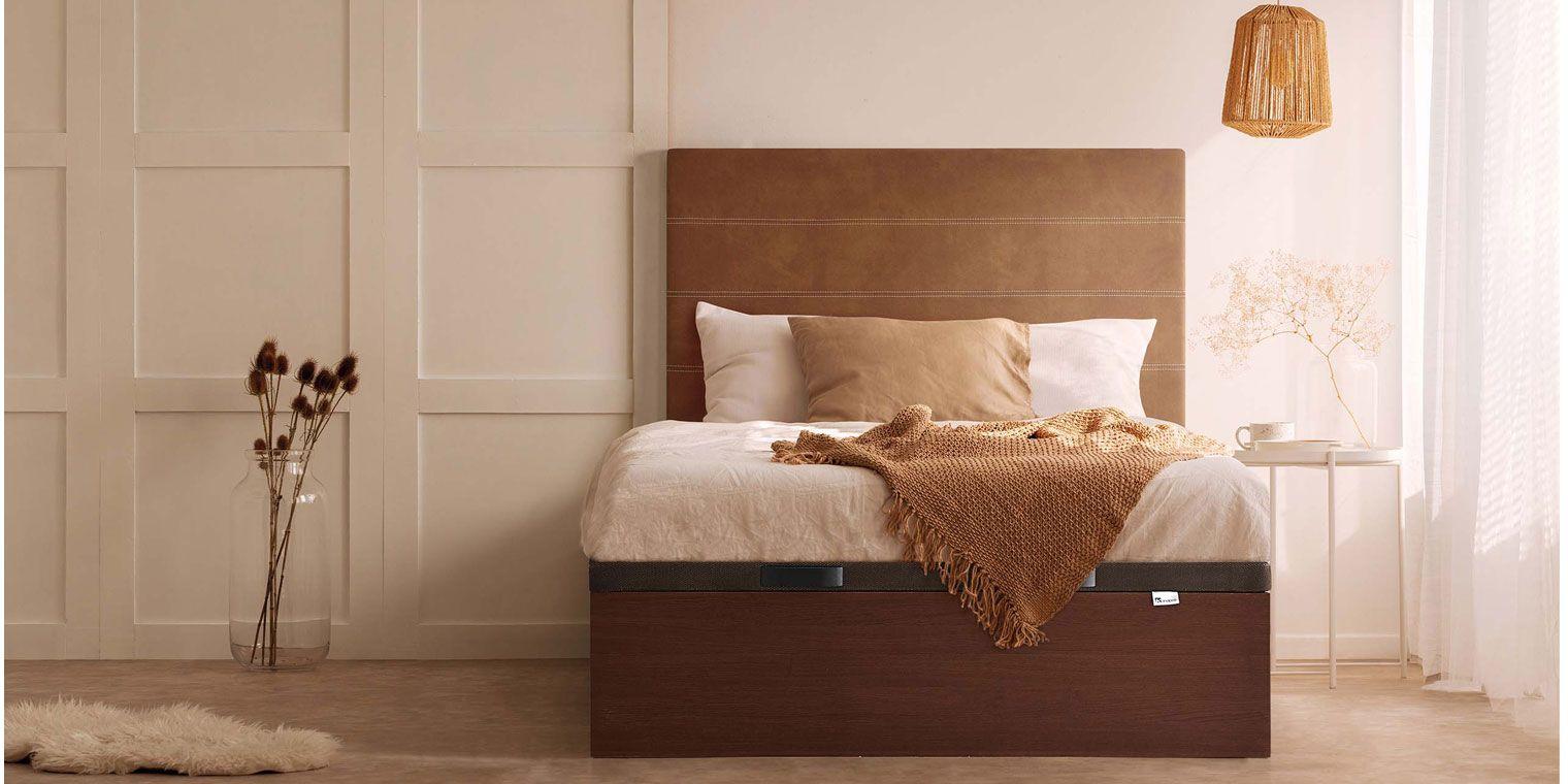 Cama madera zeus canapi - Hacer una cama de madera ...