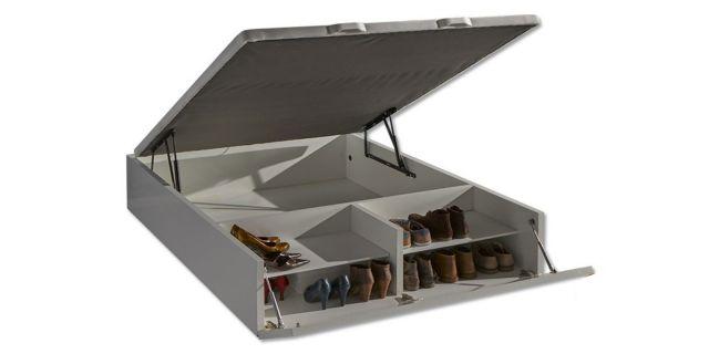 Comprar canap abatible con zapatero 90 x 190 for Canape con zapatero