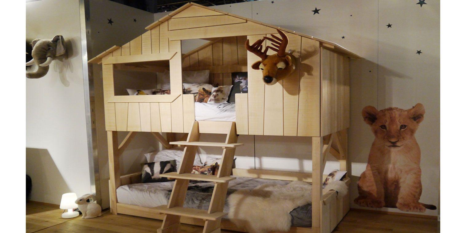 Cama infantil caba a litera canapi - Casa de palets para ninos ...