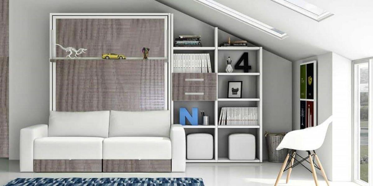 Cama abatible escamotable sofa canapi - Camas abatibles con sofa ...