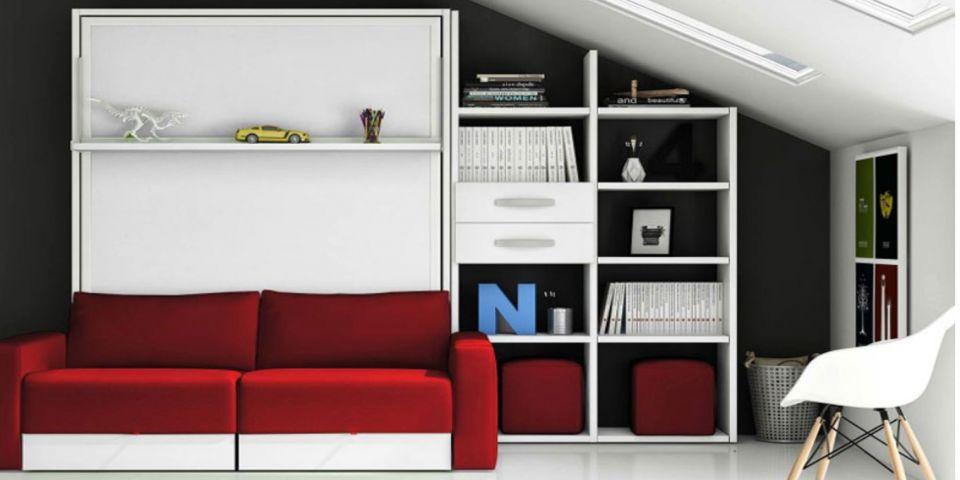 Descanso y salud c mo ahorrar espacio con las camas abatibles - Muebles para ahorrar espacio ...