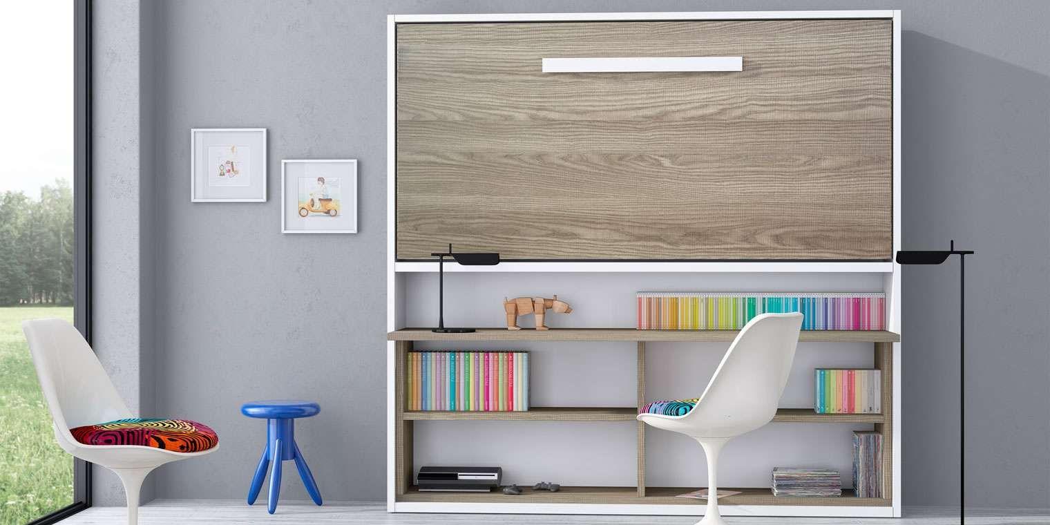 Cama abatible horizontal escritorio canapi for Cama escritorio