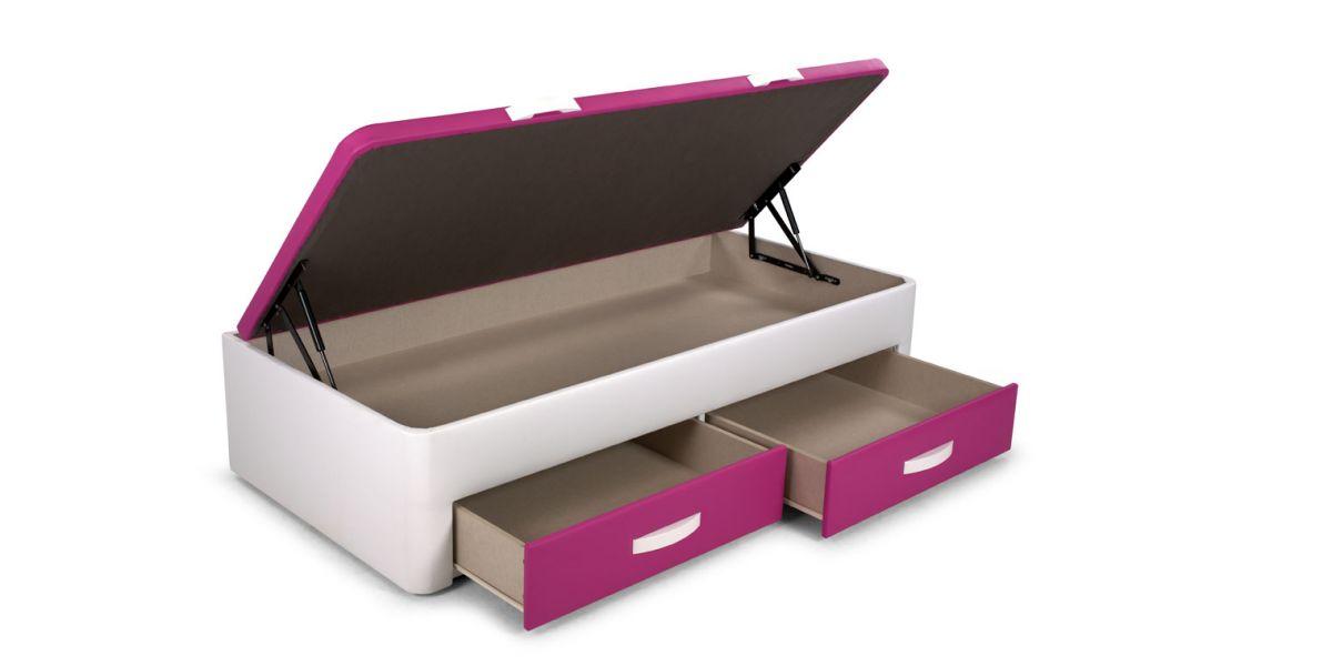 Opcionales canap juvenil box for Cama canape 90