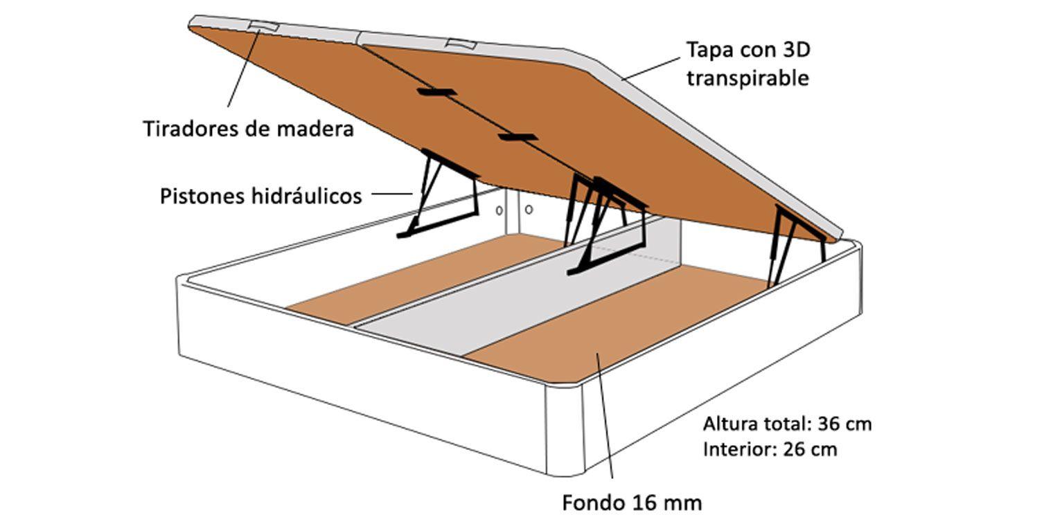 Canap abatible gemelar canapi - Fabricar cama abatible ...