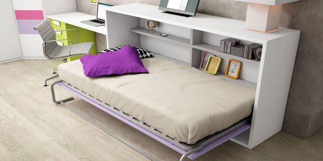 Comprar cama abatible horizontal estantes cama horizontal - Construir cama abatible ...