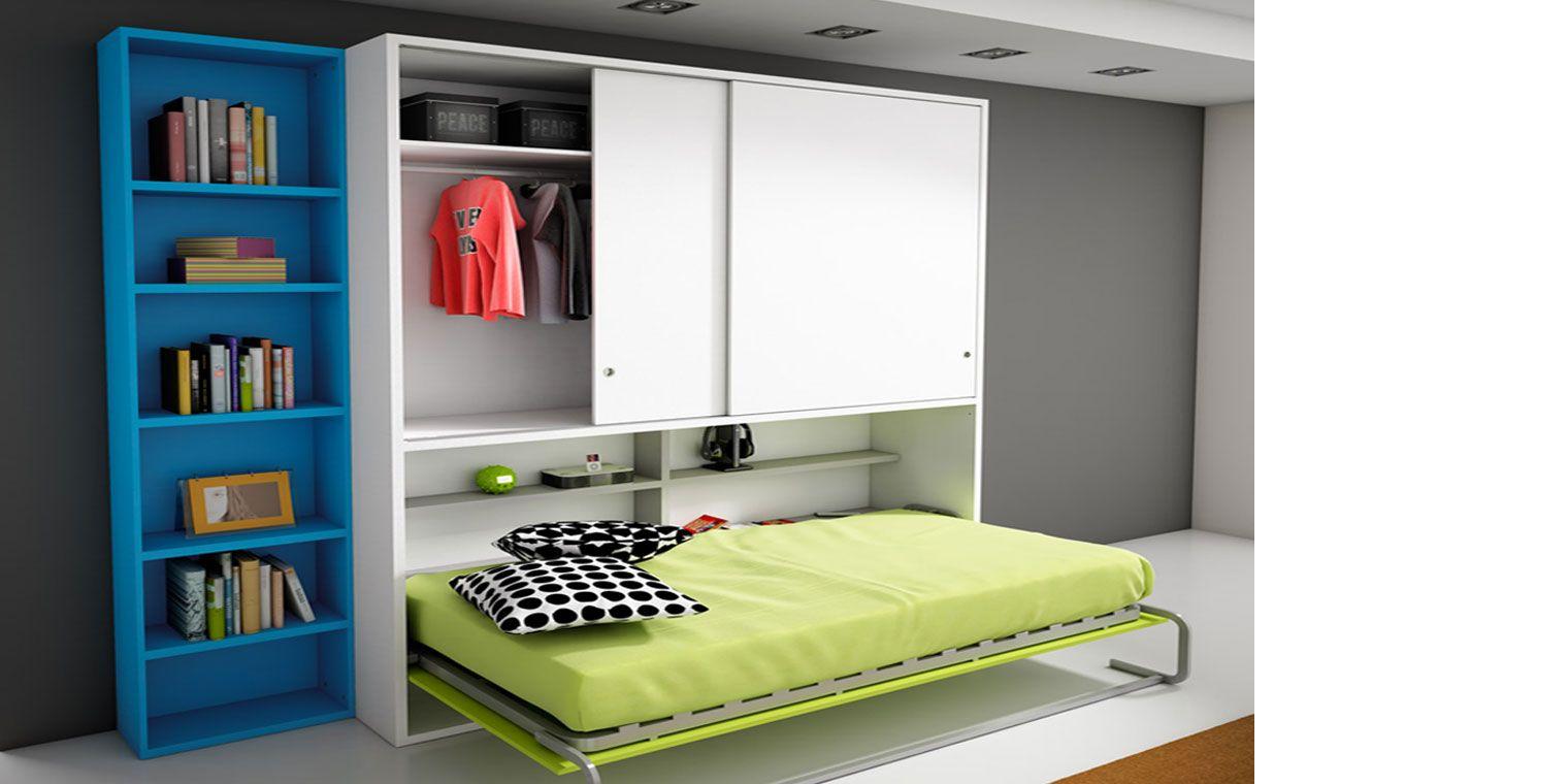 Cama abatible horizontal armario canapi for Sofa cama armario