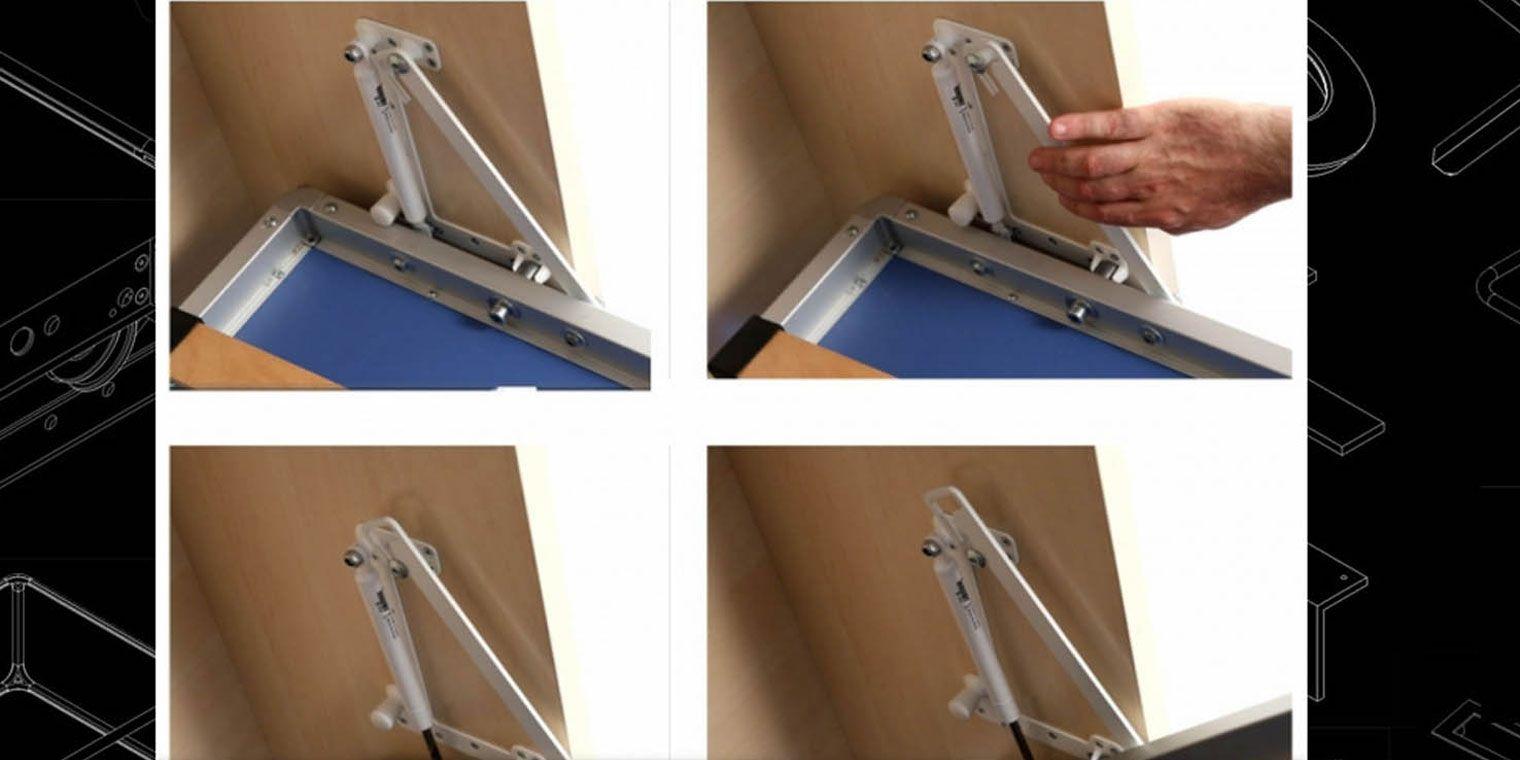 Cama abatible horizontal escritorio libreria canapi - Como hacer una cama abatible ...