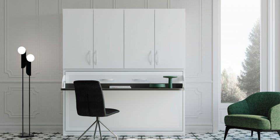 Cama abatible horizontal escritorio armario canapi - Camas abatibles 135 ...