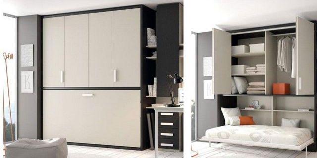 Comprar cama abatible horizontal krono armario cama abatible 135 x 190 - Cama sobre armario ...